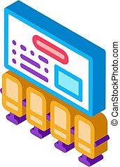 organizational workplace isometric icon vector illustration...