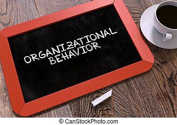 organizativo, comportamiento, concepto, mano, dibujado, en, chalkboard.