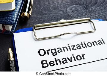 organizativo, comportamiento, informe, en, un, oficina, desk.