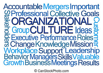 organizativo, cultura, palabra, nube