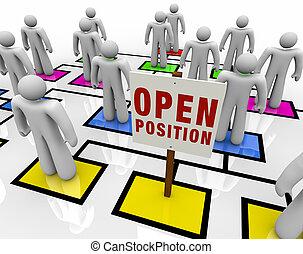 organizativo, posición, abierto, gráfico