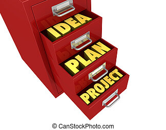 Organize and protect the work - one file drawer with three...