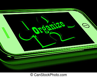 Organize On Smartphone Shows Contacts Organizing
