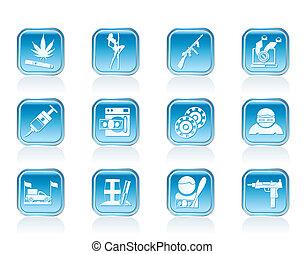 organized criminality activity icon