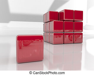 3d rendered puzzle cube