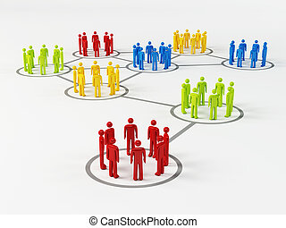 Organized Group isolated on white