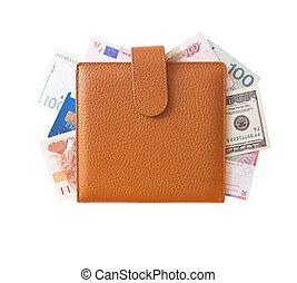 Organizer filled with money