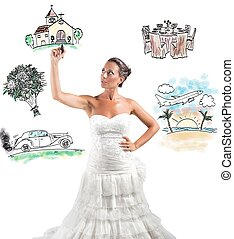 Organizing a wedding - A woman arranges her marriage with a...