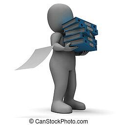 Organizing Clerk Carrying Organized Files