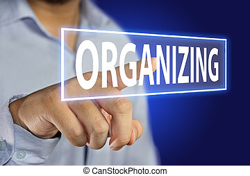 Organizing Concept - Business concept image of a businessman...