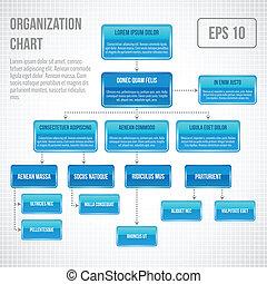 organizzativo, infographic, grafico