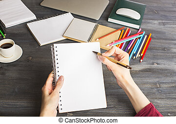 organizzatore, scrittura donna