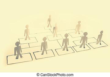 organizzazione, grafico, concetto, affari
