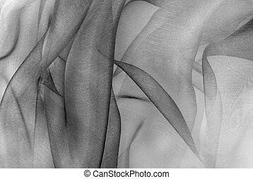 organza fabric in grey color
