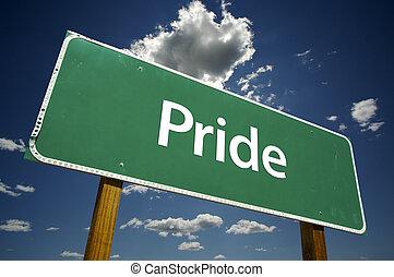 orgoglio, segno strada