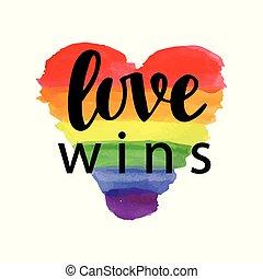orgoglio, slogan, amore, wins.