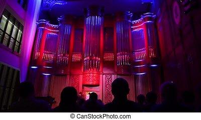 orgue, ?oncert, philharmonique, salle, musique classique