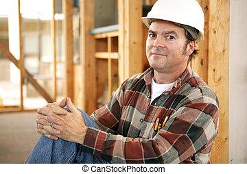 orgulho, trabalhadores, construção