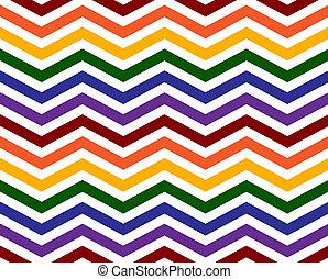orgullo alegre, colores, en, un, zigzag, patrón, plano de fondo