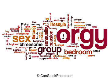 Orgy word cloud concept - Orgy word cloud