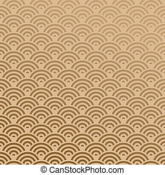 Elegant Oriental abstract wave design seamless pattern background. Vector illustration layered for easy manipulation and custom coloring.