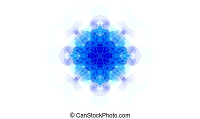 orient religion blue flower pattern