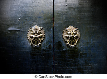 Oriental ancient architecture knocker - Chinese ancient...