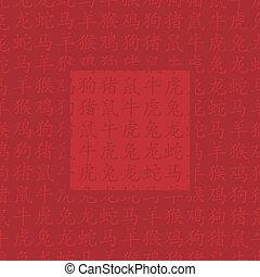 oriental, année, salutation, chinois, nouveau