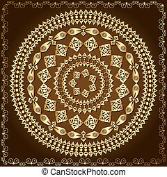 oriental arabesque pattern gold