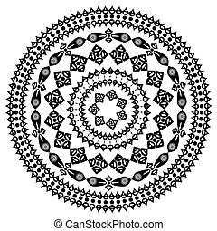oriental arabesque pattern round