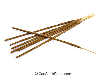 incense sticks - oriental aromatic incense sticks isolated...