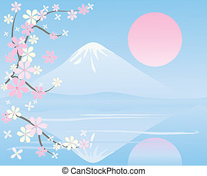 oriental background - an illustration of an oriental...