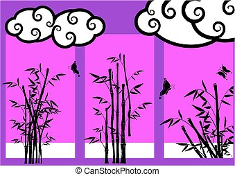 oriental bamboo japanese background
