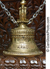 Oriental bell at Nepal Peace Pagoda in Brisbane, Australia.