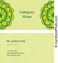 oriental business card