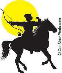 oriental, cavaleiro