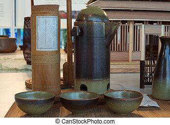 Oriental ceramic bowls