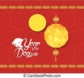 Oriental Chinese New Year 2018. Year of the dog