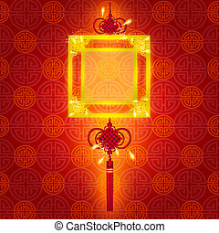 Oriental Chinese New Year Element