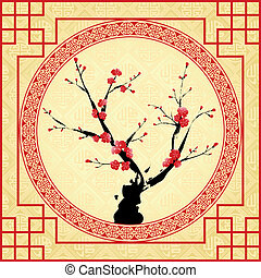 Oriental Chinese New Year greeting card