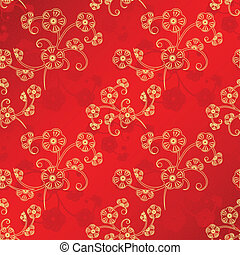 Oriental Chinese New Year seamless pattern - Oriental...