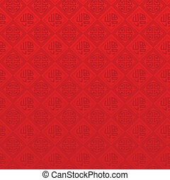 Oriental Chinese New Year seamless pattern