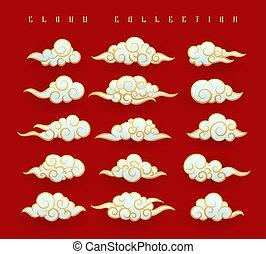 Oriental clouds set