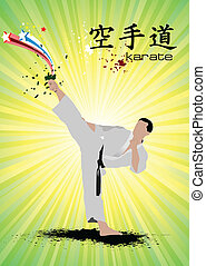 Oriental combat sports. Poster of