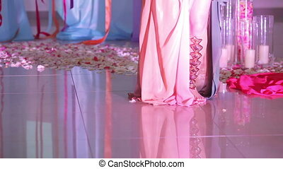 Oriental dance girl in national dress