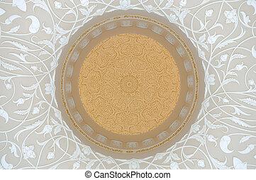 Oriental Decoration in Sheikh Zayed Mosque, Abu Dhabi United Arab Emirates