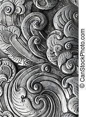 metal stamping - Oriental design, metal stamping handmade