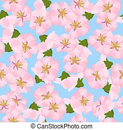 oriental, estilo, quadro, flor cereja, em, primavera