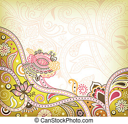 Oriental Floral Background
