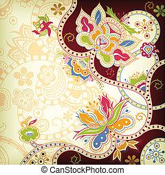oriental, floral